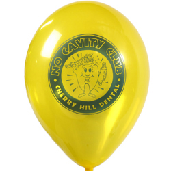 10 inch custom balloons with logo